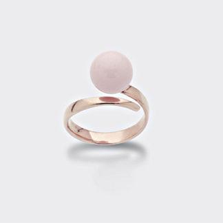 Anello argento e corallo rosa Mikiko Mademoiselle ma7123a3corallo