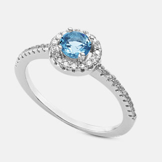 anello argento e swarovski Mikiko Mademoiselle ma7171a4azzurro