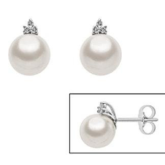 orecchini con perla e diamante mikiko mo1391o4fabi075